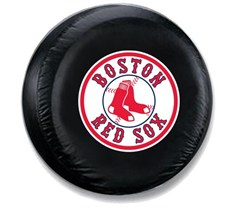 Boston Red Sox MLB Tire Cover - Black Vinyl