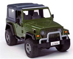 Bruder Jeep Wrangler Unlimited Plastic Toy Model (Green)