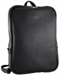 Back Trail Outfitters' Stow Away Bag, Black Leather