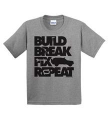 Build, Break, Fix, Repeat Youth Tee with Cherokee