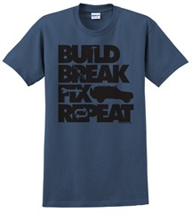 """Build, Break, Fix, Repeat"" Unisex Short Sleeved Shirt with Cherokee"