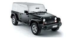 Cab Cover Wrangler Unlmtd JKU 4 Dr 2007-2017 Jeep Logo Silver