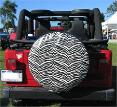 "CLOSEOUT - Spare Tire Covers: ""Designer"" Zebra Stripes for your Jeep or SUV (28 inch only)"
