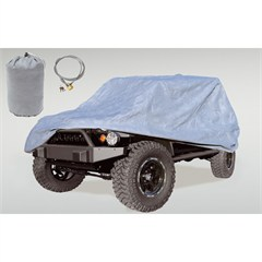 Car Cover with Bag & Cable Lock Wrangler JK 2D 2007-2017 Rugged Ridge