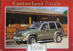 Jeep Cherokee Liberty  (Green) & Log Cabin Puzzle -1500 piece