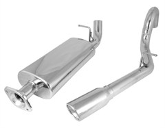 Stainless Catback Exhaust Kit w/Single RH Outlet - Jeep TJ 00-06