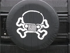 Jeep Skull/Crossbones Tire Cover, JPFreek Logo