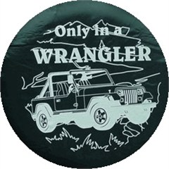 CLOSEOUT - Jeep Tire Covers: Only in a Wrangler