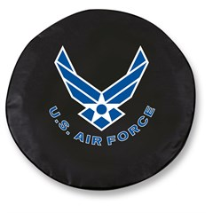 U.S. Air Force Spare Tire Cover, Black Vinyl