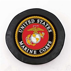 U.S. Marines Spare Tire Cover, Black Vinyl