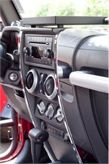 Center Dash Accents, Jeep JK (2007-2010), Chrome,