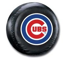 Chicago Cubs MLB Tire Cover - Black Vinyl