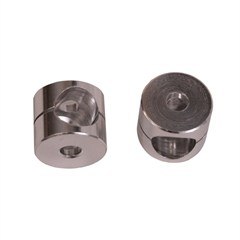 Clear Anodized Mirror Bushings for Jeep CJ (1955-1986)