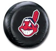 Cleveland Indians MLB Tire Cover - Black Vinyl