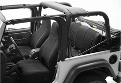 Neoprene Front Seat Covers for Jeep Wrangler YJ 1991-1995, w/RECLINING FRONT Seats, CoverKing