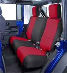 Neoprene Rear Seat Covers for Jeep Wrangler Unlimited 4 Door 2008-2010 JK, CoverKing