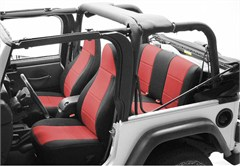 Neoprene Rear Seat Covers for Jeep Wrangler TJ (2003-2006), CoverKing