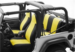 Neoprene Rear Seat Covers for Jeep Wrangler TJ (1997-2002), CoverKing