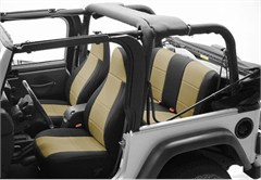 Neoprene Rear Seat Covers for Jeep Wrangler YJ (1992-1995), CoverKing