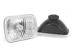Rectangular Crystal H2 Headlights for Jeep Cherokee XJ (1984-2001) and Wrangler YJ (1987-1995)