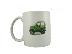"Wrangler 2 Door ""Where's Your Playground"" Coffee Mug by All Things Jeep"