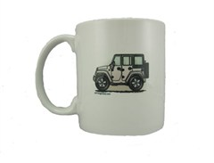 "JK Wrangler 4 Door ""Where's Your Playground"" Coffee Mug by All Things Jeep"