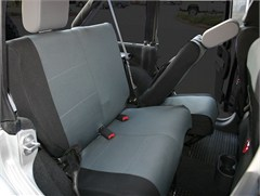 Custom Fit Polycanvas Rear Seat Covers, Black/Gray, Jeep JK 2D