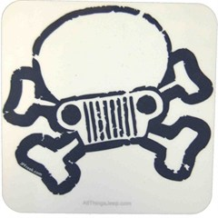 Jeep Skull & Crossbones Coaster Set