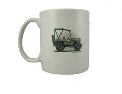 "All Things Jeep Custom ""Military Jeep"" Coffee Mug"