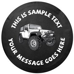 Custom Text JK 2 Door Tire Cover by All Things Jeep