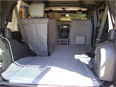 Jeep Wrangler Unlimited 4 door 2007-2010 (With Subwoofer) Canvasback Cargo Liner
