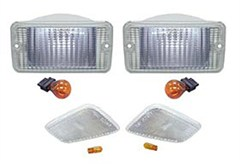 Jeep TJ Clear Lense Kit (Set of 4: 2 front & 2 turn lights)
