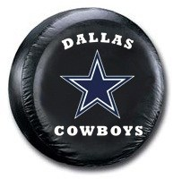 Dallas Cowboys NFL Tire Cover - Black Vinyl