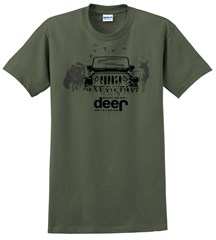 Can't Deer Hunt In A Minivan Men's T-Shirt