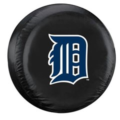 Detroit Tigers MLB Tire Cover - Black Vinyl