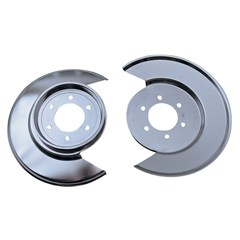 Disc Brake Dust Shield, Jeep (CJ) 1977-1978 With 6-Bolt Caliper Plate, Stainless Steel