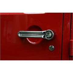 Chrome 5 Piece Door Handle Guard Kit for 4 Door Jeep Wrangler JK