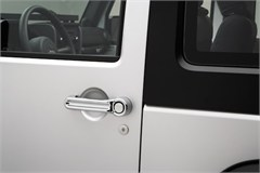 Door Handle Cover Kit Wrangler JK 2D 2007-2017 Chrome Rugged Ridge