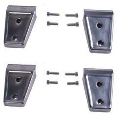 Door Hinge Covers, Rugged Ridge, JK Wrangler (2007-2014), 2 Door, Set Of Four, Stainless Steel