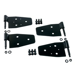 4 Piece Black Door Hinge Kit for Jeep Wrangler YJ (1987-1995) and TJ and LJ (1997-2006)