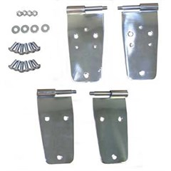Door Hinges, 76-93 Jeep CJ & Wrangler with Full Steel Doors, Stainless