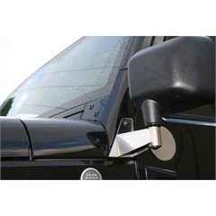 Stainless Steel Door Mirror Relocation Brackets for Jeep Wrangler JK (2007-2014)