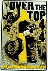 "Jeep ""Over the Top 4x4"" Metal Wall Sign"