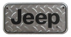 Jeep Bike License Plate, Diamond Embossed