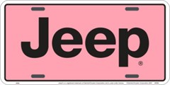 Pink Jeep License Plate