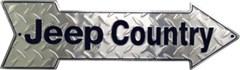 """Jeep Country"" Arrow Sign"