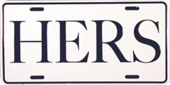 HERS Metal License Plate