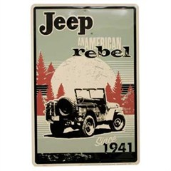 Jeep, An American Rebel, Aluminum Wall Sign