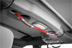 Dual Grab Strap Rear JK (2007-2015) - For Use With Soft Tops Only, Red