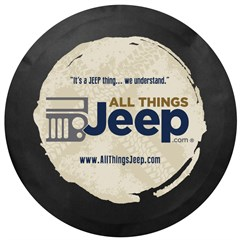 All Things Jeep Logo Tire Cover, Black